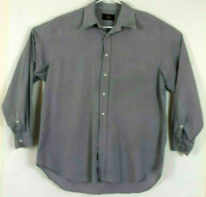 FENDI FF Logo Made in Italy Long Sleeve Cotton Shirt Mens Size 43-17/35