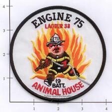 New York City NY Fire Dept Engine 75 Ladder 33 Battalion 19 Patch - Animal House