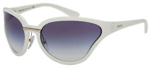Prada Sunglasses PR 22VS 7S3409 68 White | Clear Gradient/Blue Lens