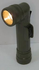 OD Green Military Fulton Style Angle Head D-Cell Survival Flashlight Rothco 638
