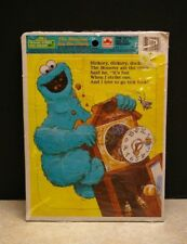 NEW 1989 CTW GOLDEN SESAME STREET THE MONSTER ATE THE CLOCK FRAME-TRAY PUZZLE