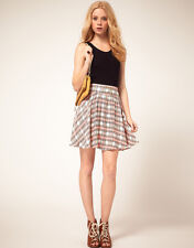 Mini falda de cuadros pastel Motel // Motel Rocks pastel tartan skater skirt
