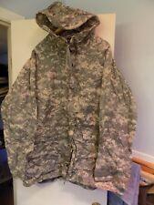 US ARMY MILITARY ORC IMPROVED ACU RAINSUIT WET WEATHER RAIN HOODED PARKA LARGE