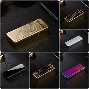 Plasma Feuerzeug Elektro Aufladbar Flammenlos Lichtbogen USB mehrere Designs
