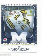 2011-12 Michigan Wolverines Lindsay Sparks (Rapid City Rush)