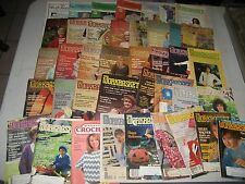Lot of 43 Vintage 1948 - 1992 The Workbasket Magazine Home Arts & Crafts