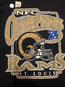 vintage 2003 St Louis LA Rams NFC Champions T-shirt Adult Large Tall Never Worn!