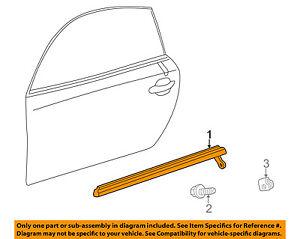75711-24071 Toyota Moulding, front door belt, rh 7571124071, New Genuine OEM Par