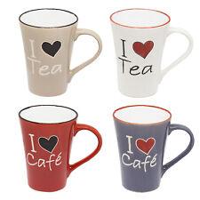 4er Set Tasse Tassen 300 ml Kaffeetasse große Becher Keramik Kaffee Tee Mug