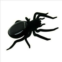 Funny Black Educational Solar Mini Power Spider Robot Insect Kids Boys XMAS Toy