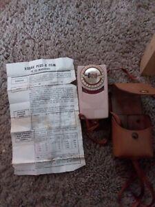 GE Vintage  Exposure Meter Type PR-2 N.P. 3 5 w/ Leather Case & Manual.