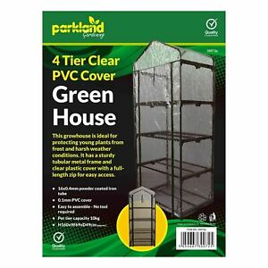 4 Tier Mini Greenhouse Outdoor Garden Plants Grow Green House PVC