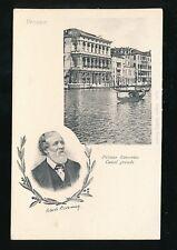 Italy Venice VENEZIA Robert Browning Palazzo Rezzonico Canal c1902 u/b PPC