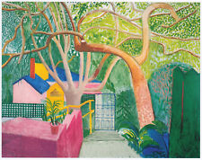 The Gate, David Hockney print in 11 x 14 mount ready to frame SUPERB