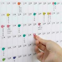 2020 Full Year Wall Planner Calendar Home Office Work * JAN-DEC 26cm 18.5cm B4M0