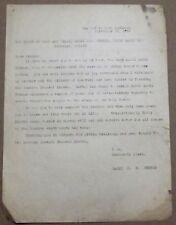 JUDAICA ISRAEL PRINT LETTER RABBI WERNER TIBERAIS 1952 DAY BEFORE ROSH HASHANAH
