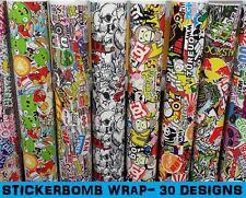 "STICKERBOMB Car Wrap 152 x 90cm (60 x 35"") - Bubble Free Vinyl Sticker Bomb Film"