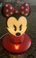Disney SoftPal Minnie Mouse LED Night Light Phillips Light  Base Charging Cable