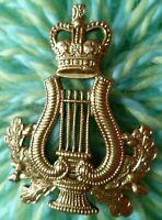 Army Music Corps Musicians Badge QC BRASS 2 Lugs ANTIQUE Original