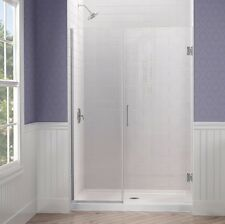 "DREAMLINE 38 1/2"" X 72"" UNIDOOR PLUS 3/8"" FRAMELESS PIVOT SHOWER DOOR ENCLOSURE"