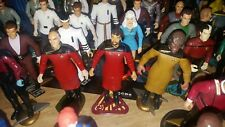 STAR TREK The Next Generation LOT OF 3 custom action figures long formal outfit
