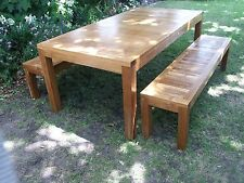 Teak, Outdoor, Setting, Table, Benches, Chairs,A Grade