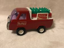 Vintage Buddy L COCA COLA Metal Delivery Truck with 2 cases Coke Bottles *