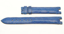Manufactures Associèes Paris 15mm blue crocodile band (Van Cleef & Arpels lugs)