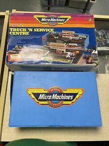 Vintage 1990 Galoob Micro Machines Truck 'N Service Center Playset