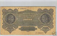 POLOGNE 10 000 MAREK 11.3.1922 N° E 3990307 PICK 32