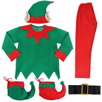 ADULTS UNISEX ELF COSTUME CHRISTMAS SANTAS HELPER XMAS MENS LADIES FANCY DRESS