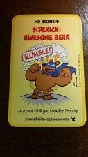 Super Munchkin Sidekick: Awesome Bear Promo Card SJ Games Art Baltazar Art
