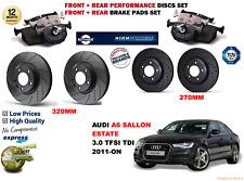 für Audi A6 3.0TDI Kombi 11- vorne & hinten PERFORMANCE BREMSSCHEIBE SATZ +