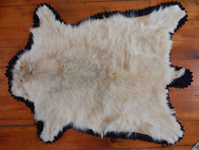ANTIQUE FUR CARRIAGE SLEIGH BLANKET THROW RUG WOOL-LINED AS-IS