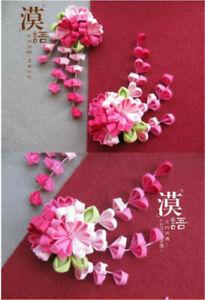 Sakura Tsumami zaiku kanzashi Hair pin Japanese Flower for Kimono Accessory Gift