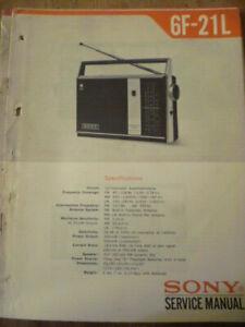 Sony 6F-21L Transistor Radio  Service Manual
