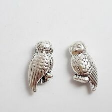 10pcs 3d Owl Metal Beads Antique Silver Jewellery Crafts 16x8mm - B0113279
