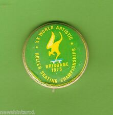 #D250. 1975 World Artistic Roller Skating World Championship Badge
