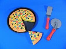 Pretend Pizza Pan Slices Playset Preschool Play Kitchen Food ~ FUN!