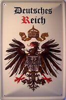 Imperio Alemán Escudo 3 Cartel de Chapa de Metal Cartel de Lata 20 X 30CM