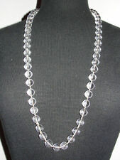 Pools of Light Rock Crystal Bead Necklace