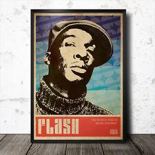 Grandmaster Flash Hip Hop Art Poster Rap Music Run DMC Afrika Bambaataa Rakim