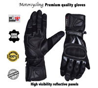 Motorbike Motorcycling Leather Gloves  Knuckle protective shell Thinsulate