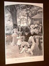Milano nel 1904 Feste di beneficienza alla Villa Reale + Etiopia Menelik Negus