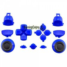 Full Button R1L1 R2L2 Repair Kit for PS4 Pro Slim Controller Solid Blue CUH-ZCT2