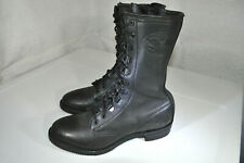 Harley Davidson USA Victory Motorcycle Packer Boots Black Leather Women 7.5 M