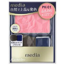 "F/S From JAPAN Kanebo media Collagen Bright Up Cheek ""with brush"" / Color PK-01"
