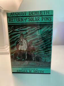 August Derleth / The Return of Solar Pons First Edition 1958 DETECTIVE
