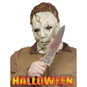 Adult Michael Meyers Costume Mask & Knife Set