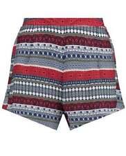 Paisley Mid Rise Regular Size Shorts for Women